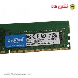 رم کامپیوتر 16 گیگابایت DDR4 کروشیال 2666 مگاهرتز